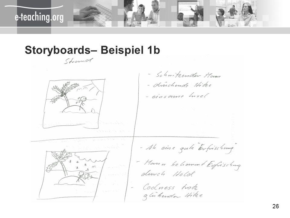 Storyboards– Beispiel 1b