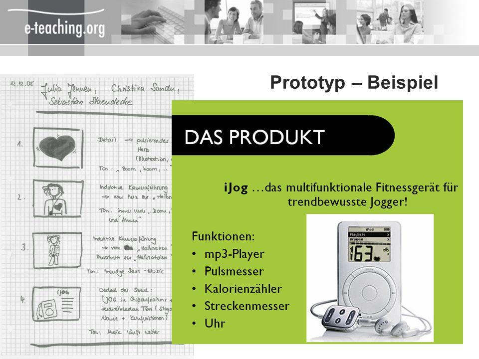 Prototyp – Beispiel