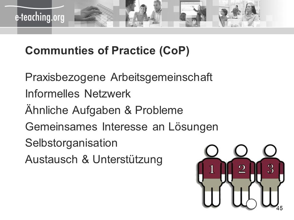 Communties of Practice (CoP)