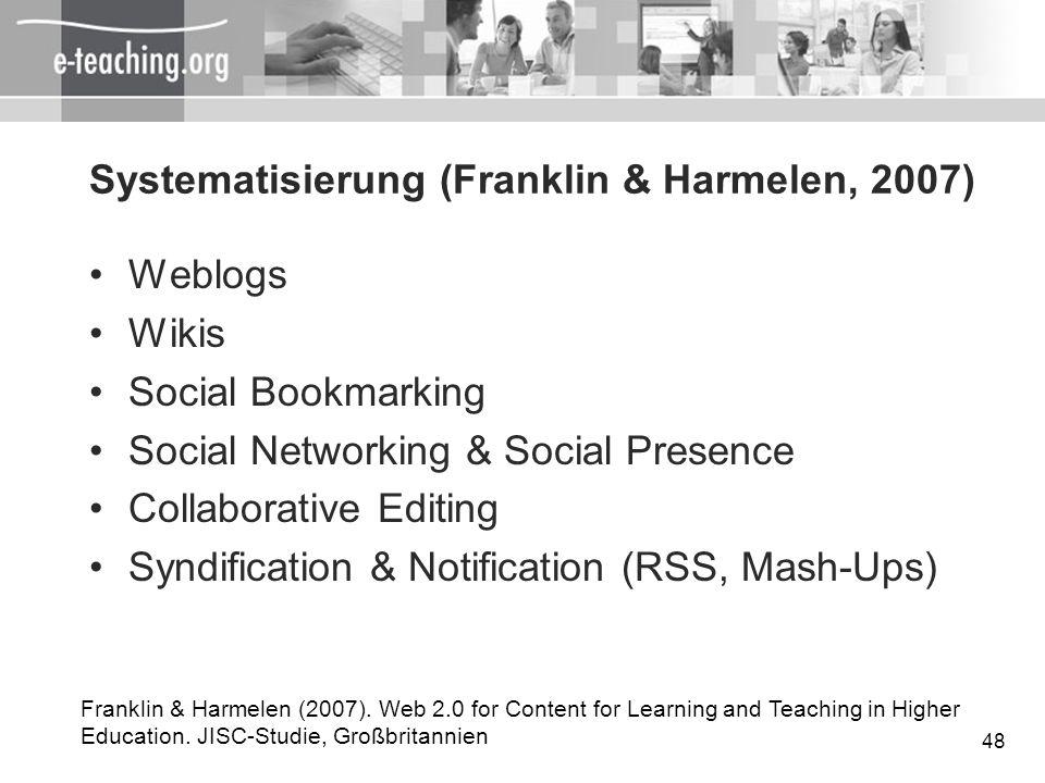 Systematisierung (Franklin & Harmelen, 2007)