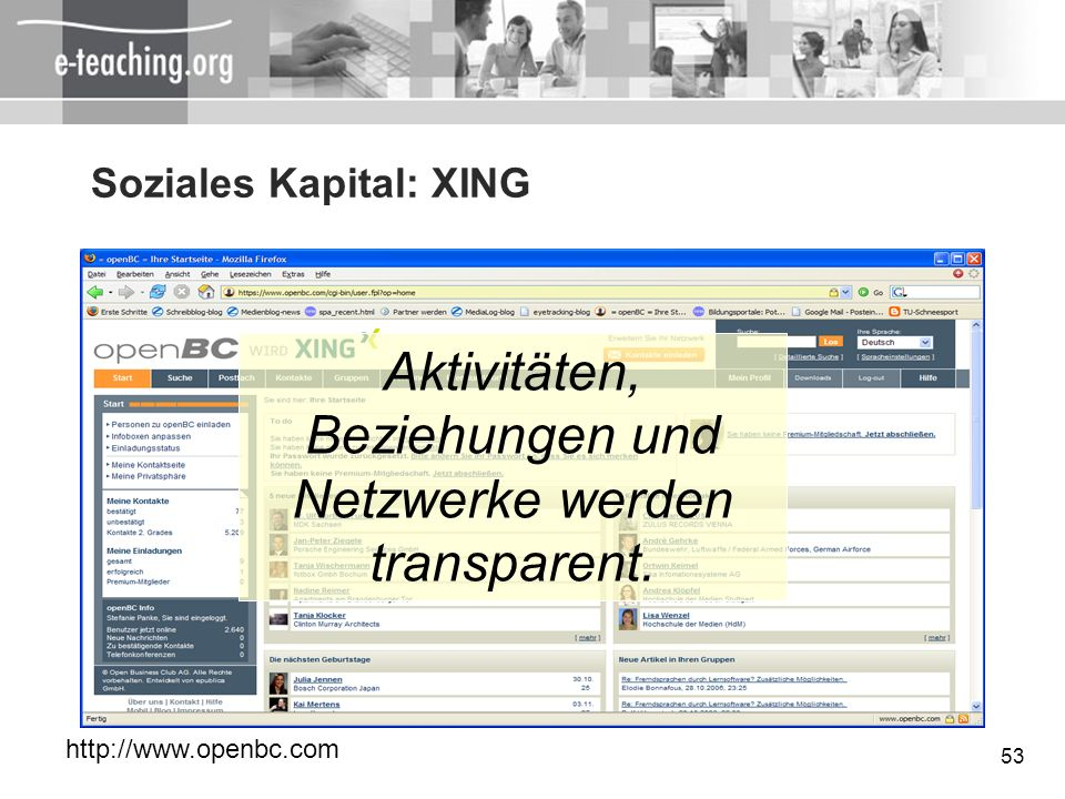 Soziales Kapital: XING