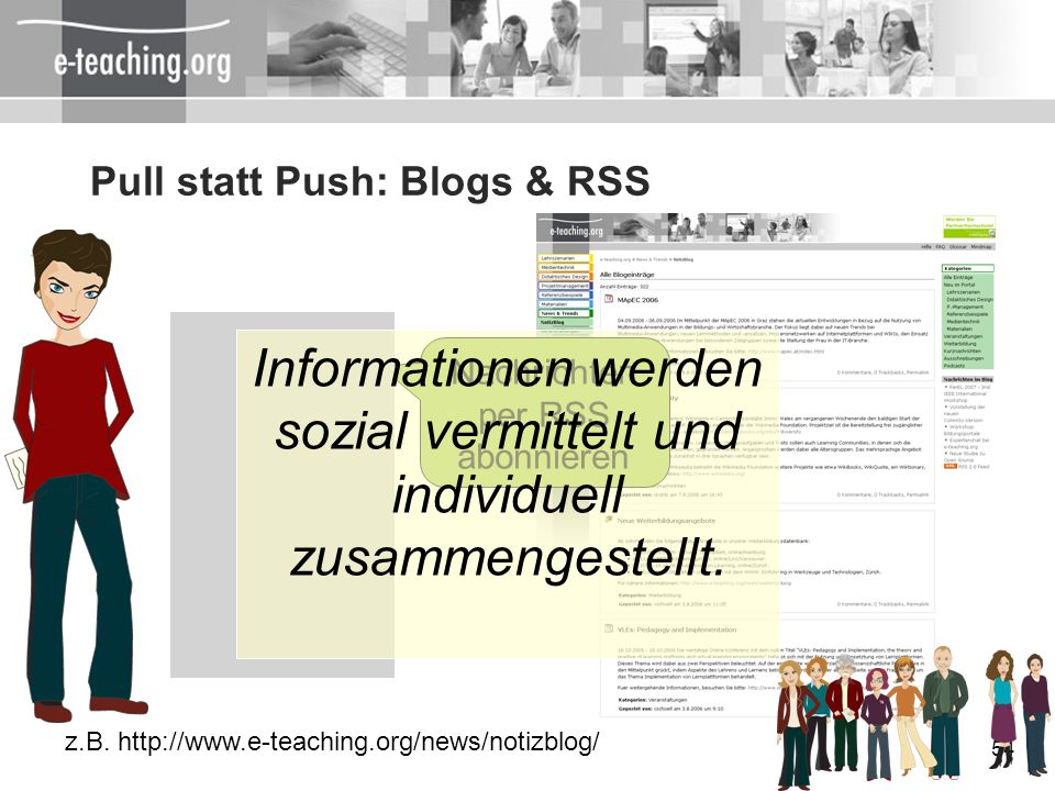 Pull statt Push: Blogs & RSS