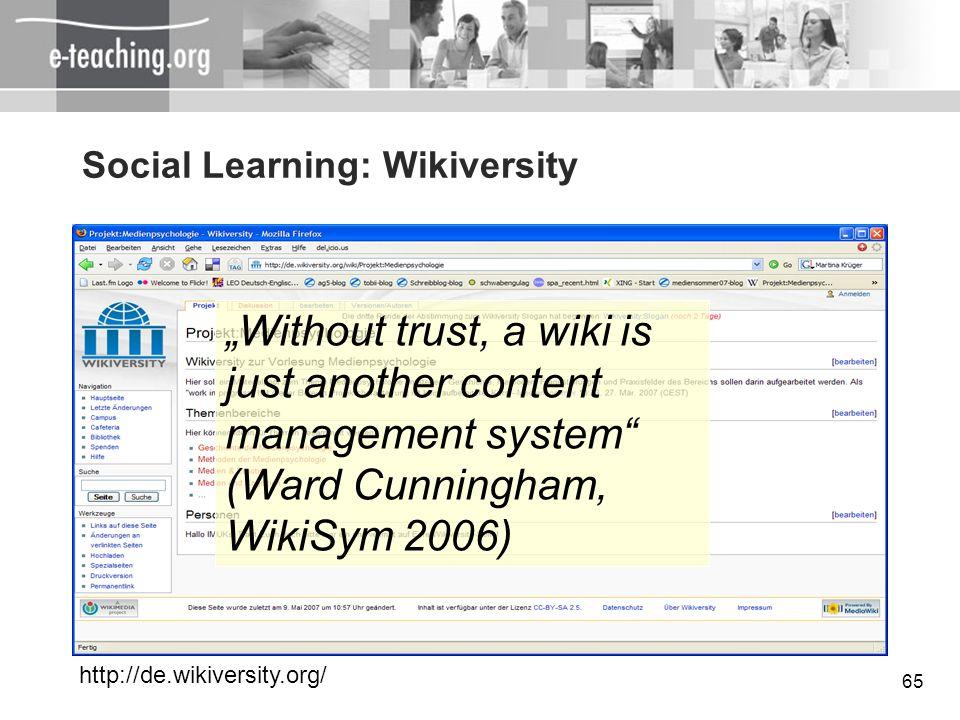 Social Learning: Wikiversity