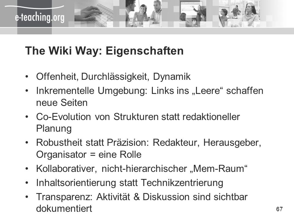 The Wiki Way: Eigenschaften