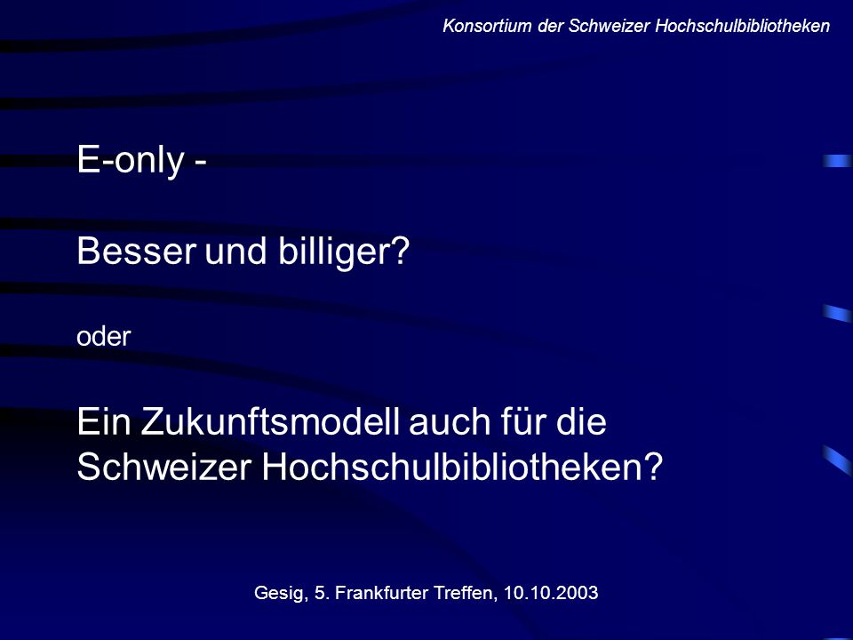 Gesig, 5. Frankfurter Treffen, 10.10.2003