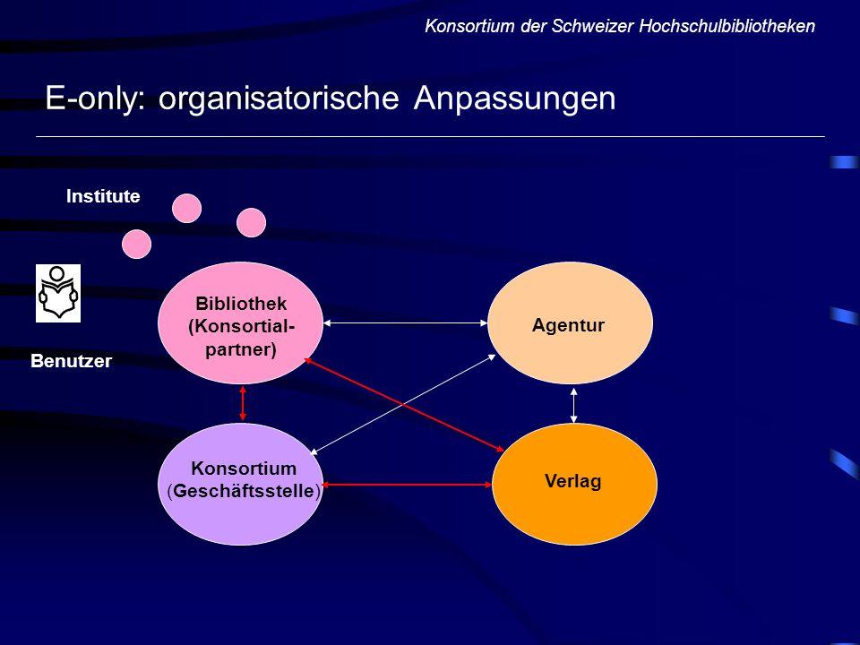 E-only: organisatorische Anpassungen