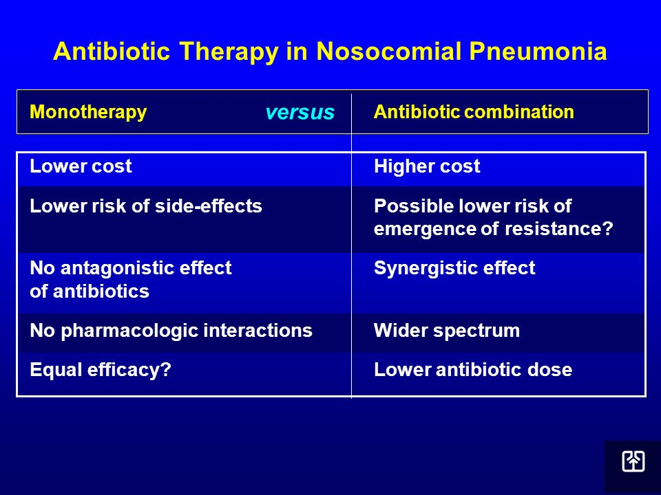 Antibiotic Therapy in Nosocomial Pneumonia