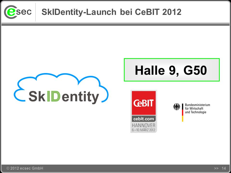SkIDentity-Launch bei CeBIT 2012