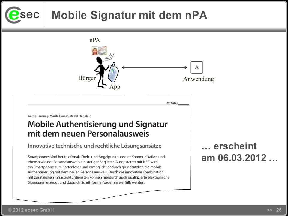 Mobile Signatur mit dem nPA
