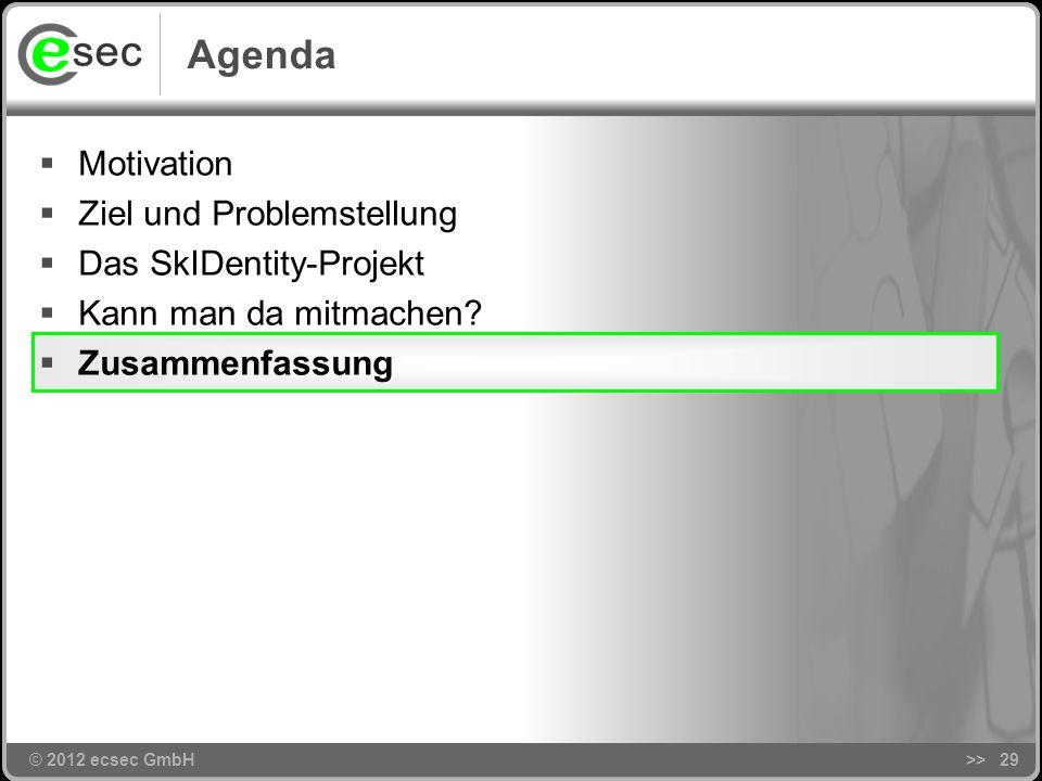 Agenda Motivation Ziel und Problemstellung Das SkIDentity-Projekt