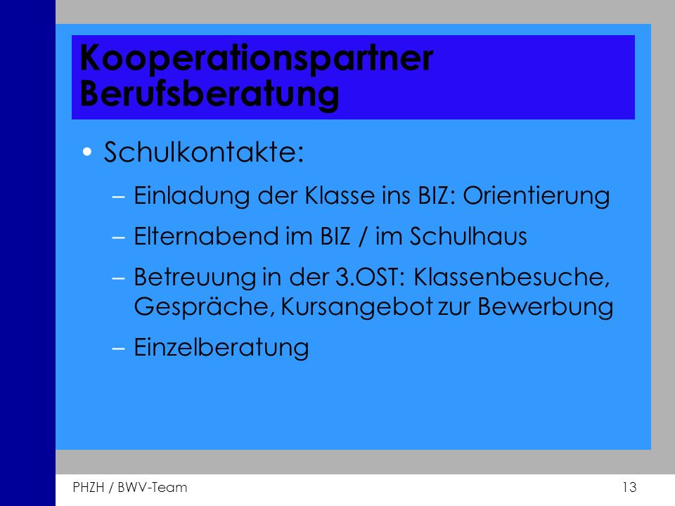 Kooperationspartner Berufsberatung