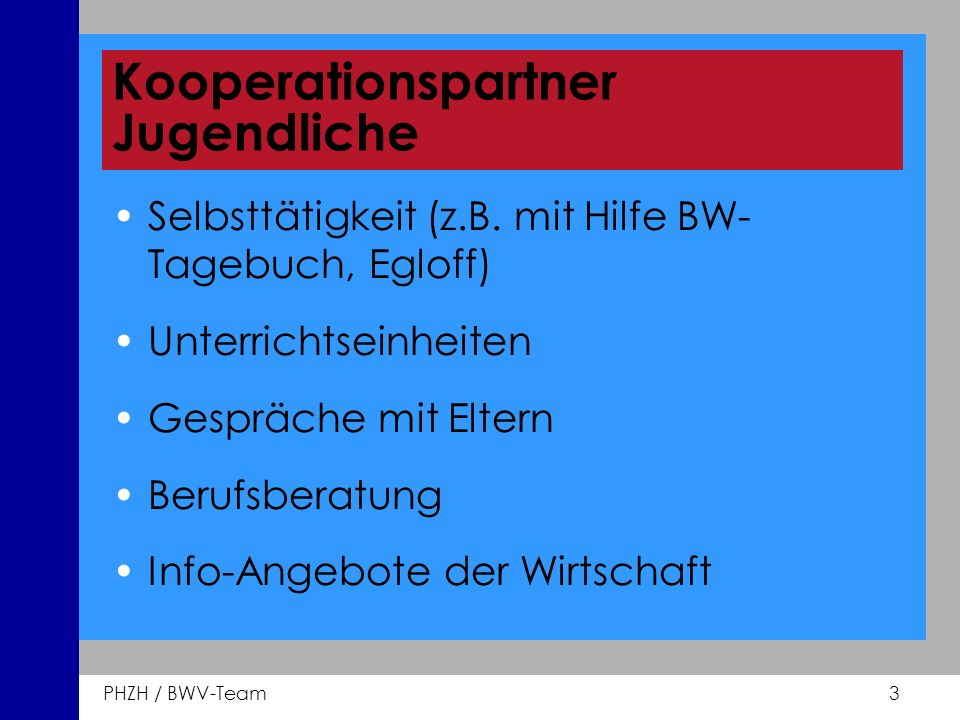 Kooperationspartner Jugendliche
