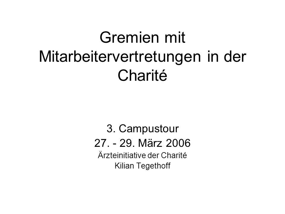 Gremien mit Mitarbeitervertretungen in der Charité