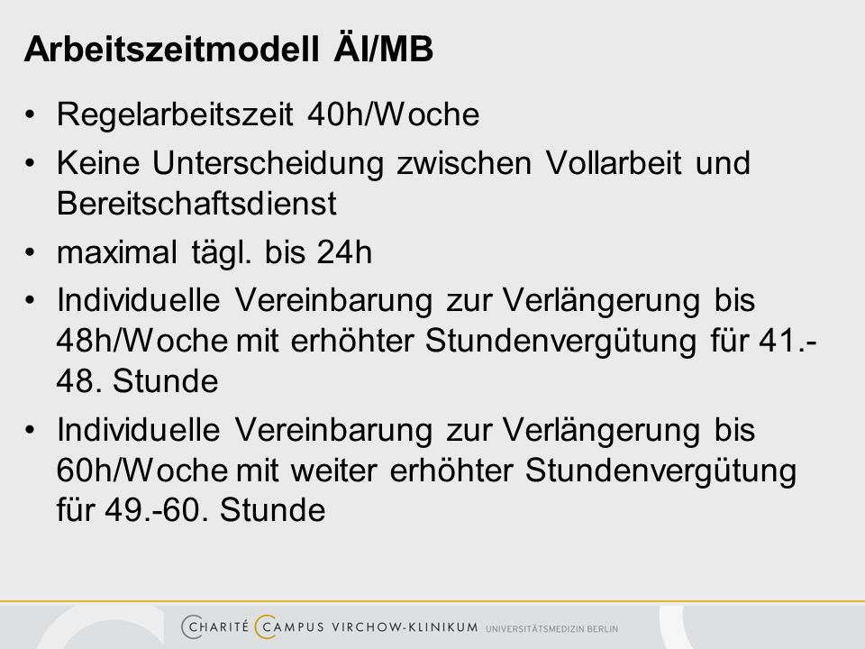 Arbeitszeitmodell ÄI/MB