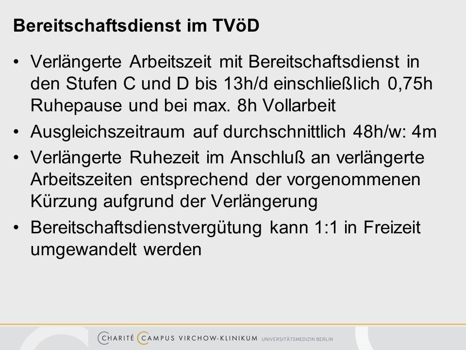 Bereitschaftsdienst im TVöD