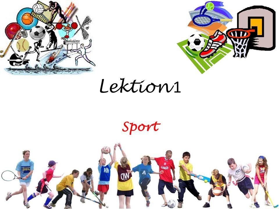 Lektion 1 Sport