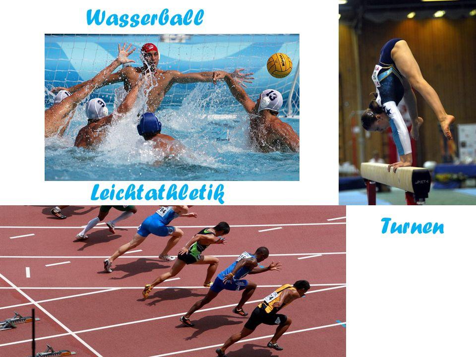 Wasserball Leichtathletik Turnen