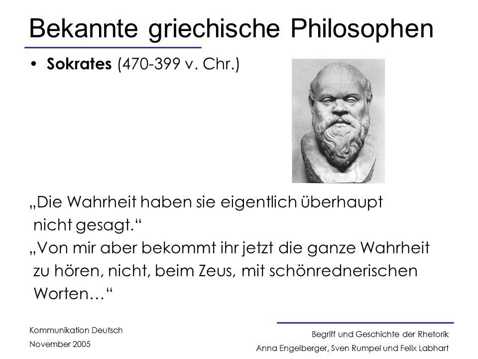 Bekannte griechische Philosophen