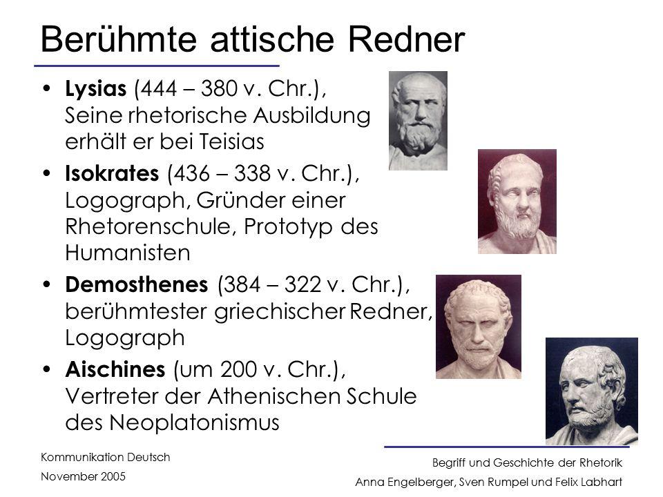 Berühmte attische Redner