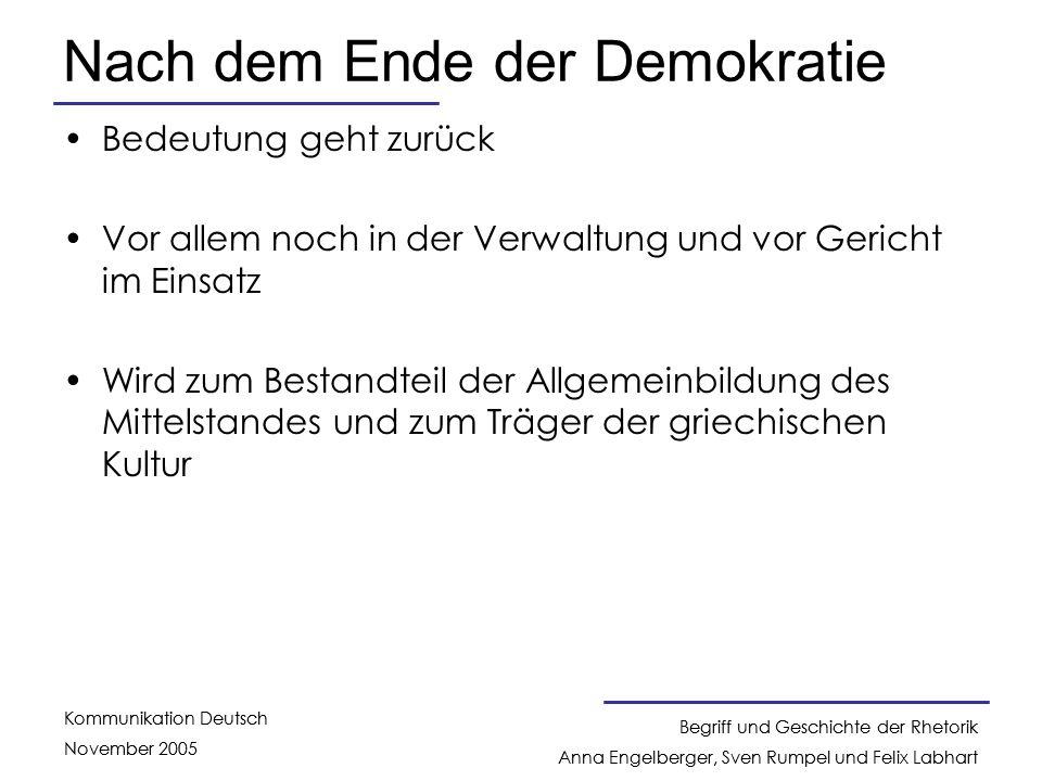 Nach dem Ende der Demokratie