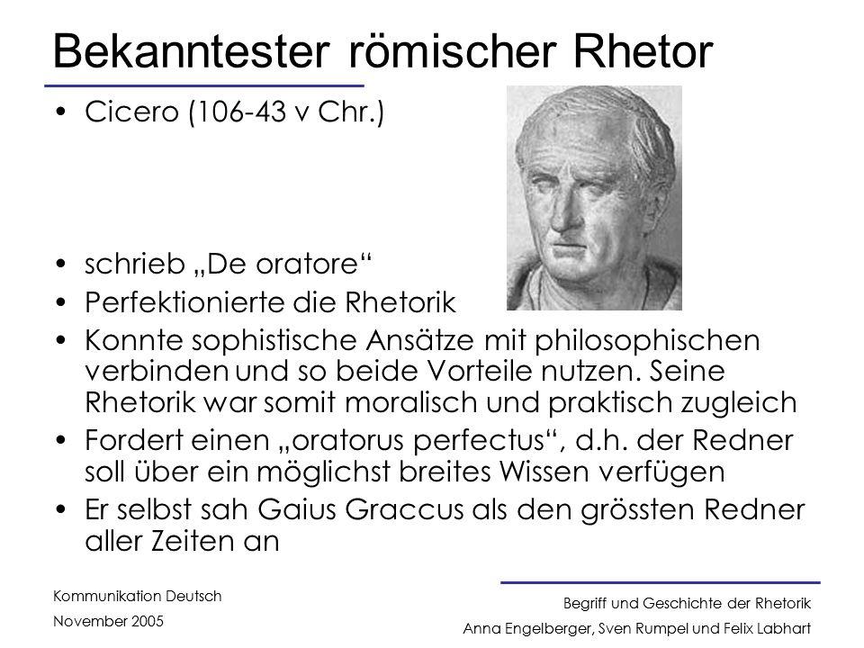 Bekanntester römischer Rhetor