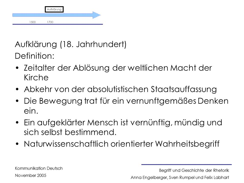 Aufklärung (18. Jahrhundert)