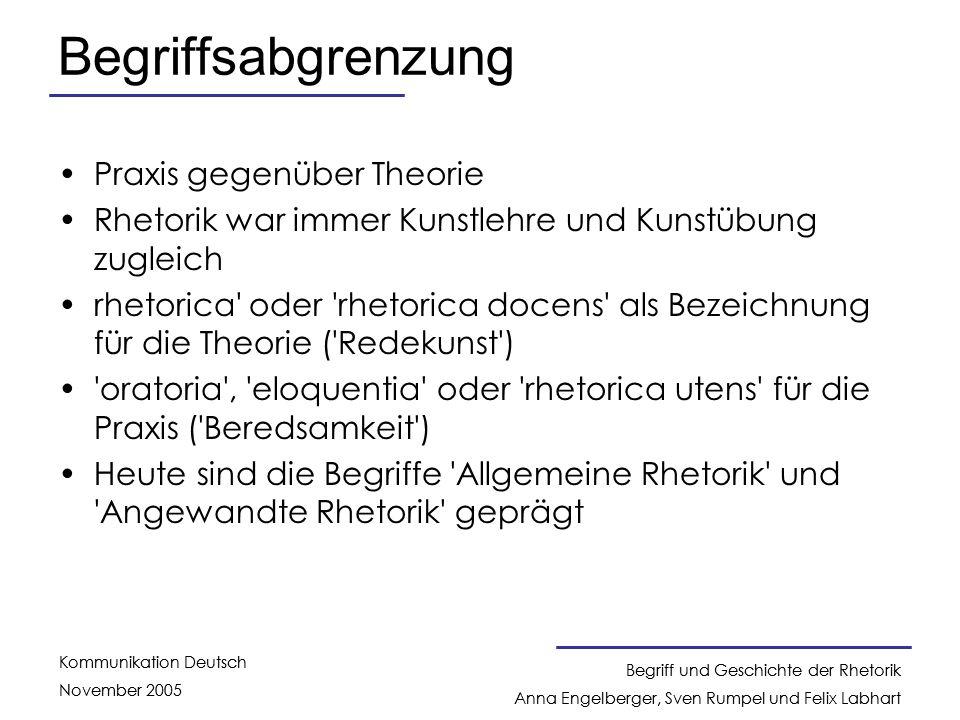 Begriffsabgrenzung Praxis gegenüber Theorie
