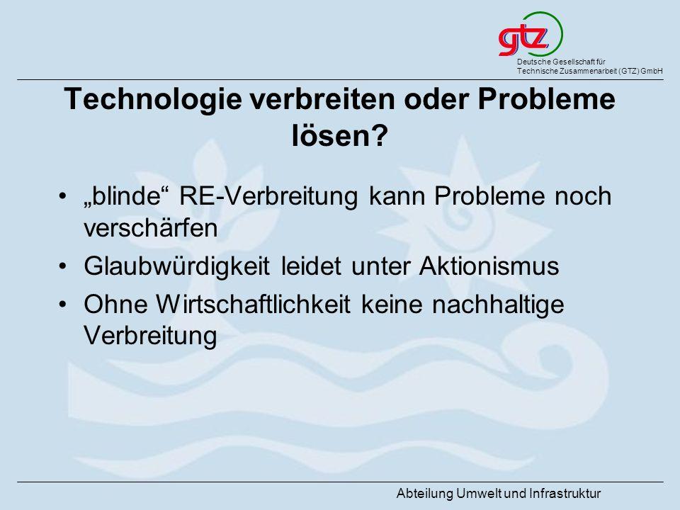 Technologie verbreiten oder Probleme lösen