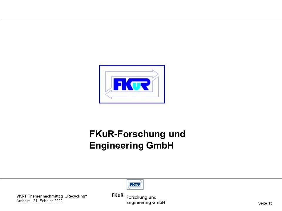 FKuR-Forschung und Engineering GmbH Seite 15