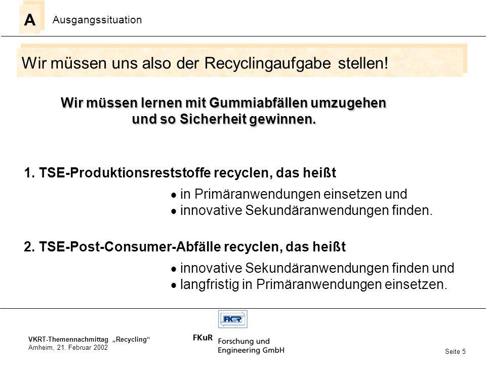 Wir müssen uns also der Recyclingaufgabe stellen!