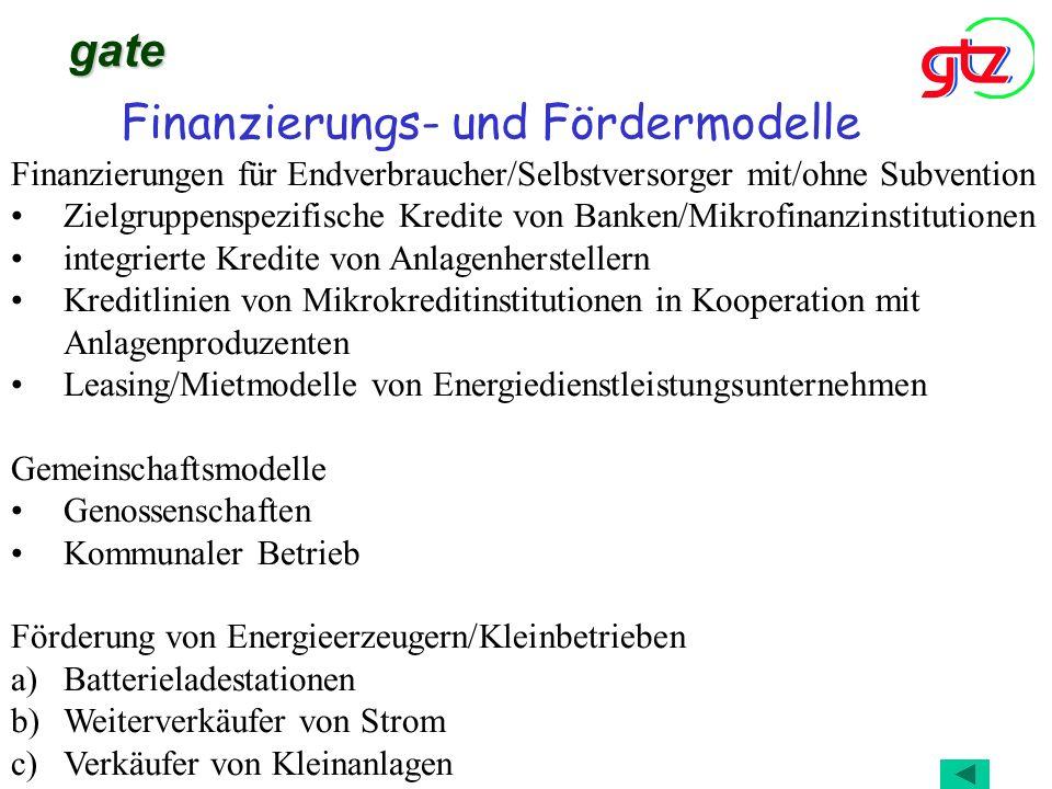 Finanzierungs- und Fördermodelle