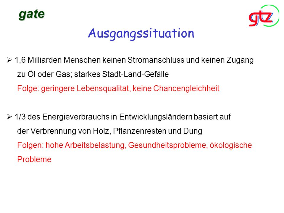 gate Ausgangssituation