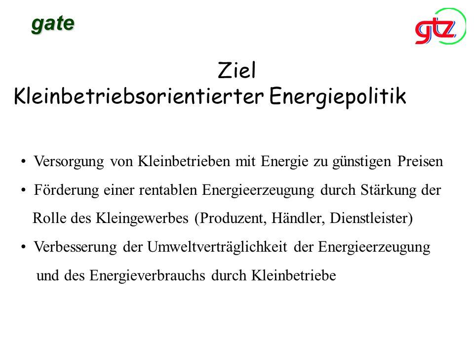Kleinbetriebsorientierter Energiepolitik
