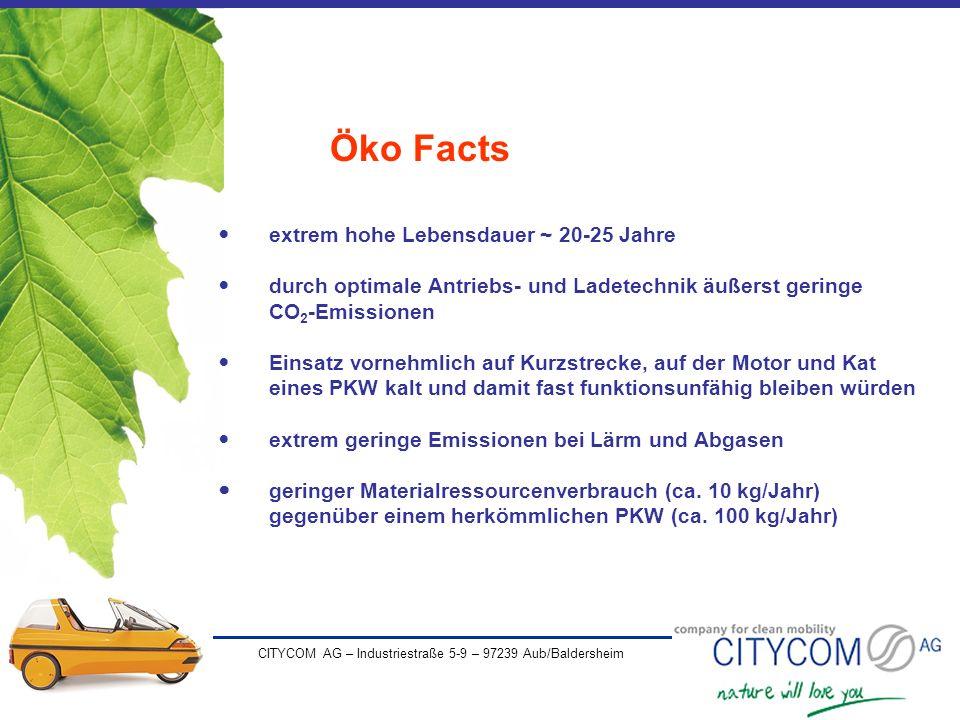 Öko Facts extrem hohe Lebensdauer ~ 20-25 Jahre