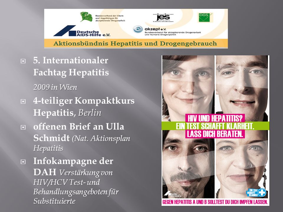 2009 in Wien 5. Internationaler Fachtag Hepatitis