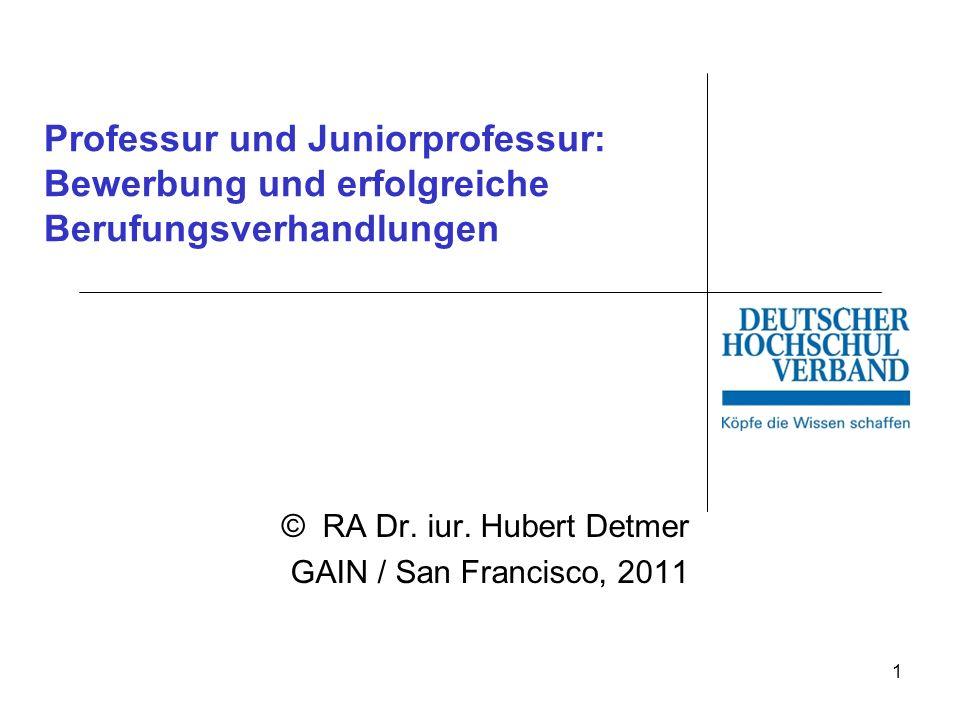 © RA Dr. iur. Hubert Detmer GAIN / San Francisco, 2011