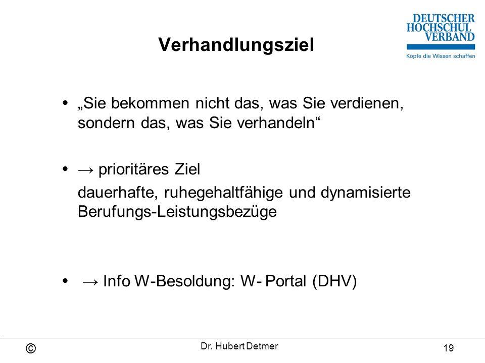  → Info W-Besoldung: W- Portal (DHV)