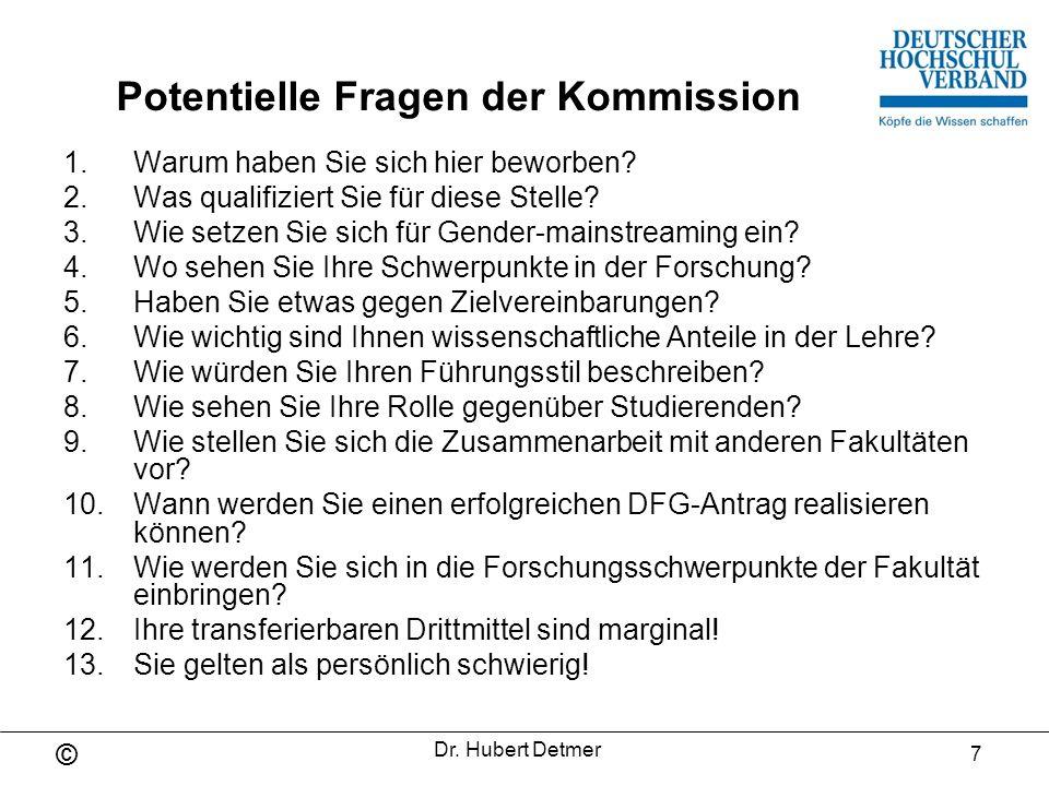 Potentielle Fragen der Kommission