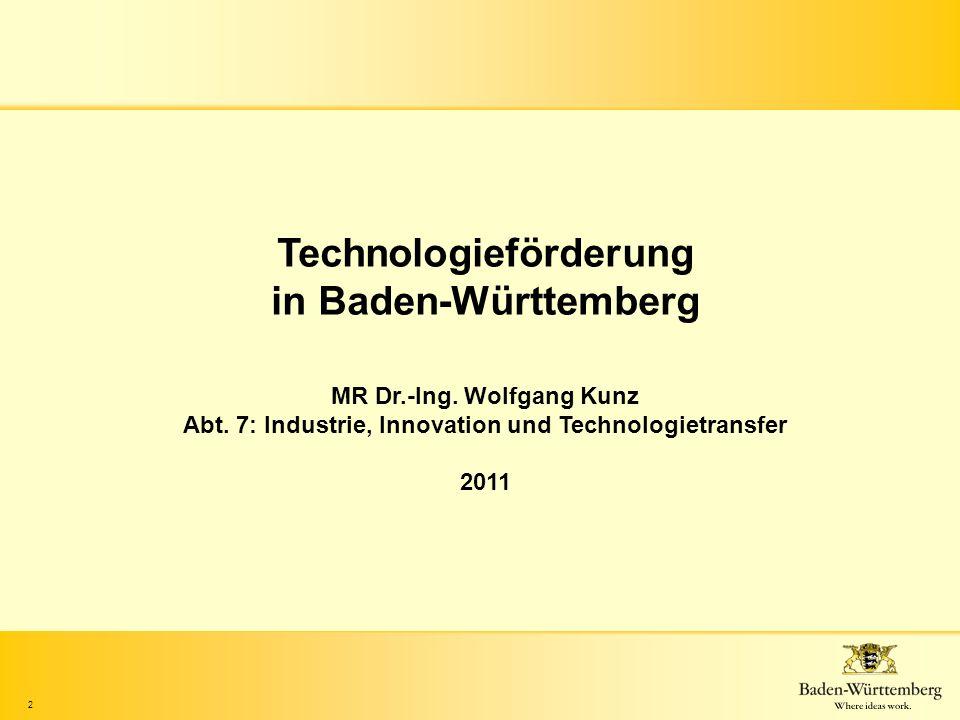 Technologieförderung in Baden-Württemberg