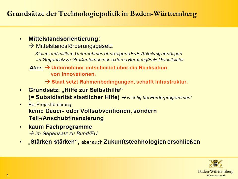 Grundsätze der Technologiepolitik in Baden-Württemberg