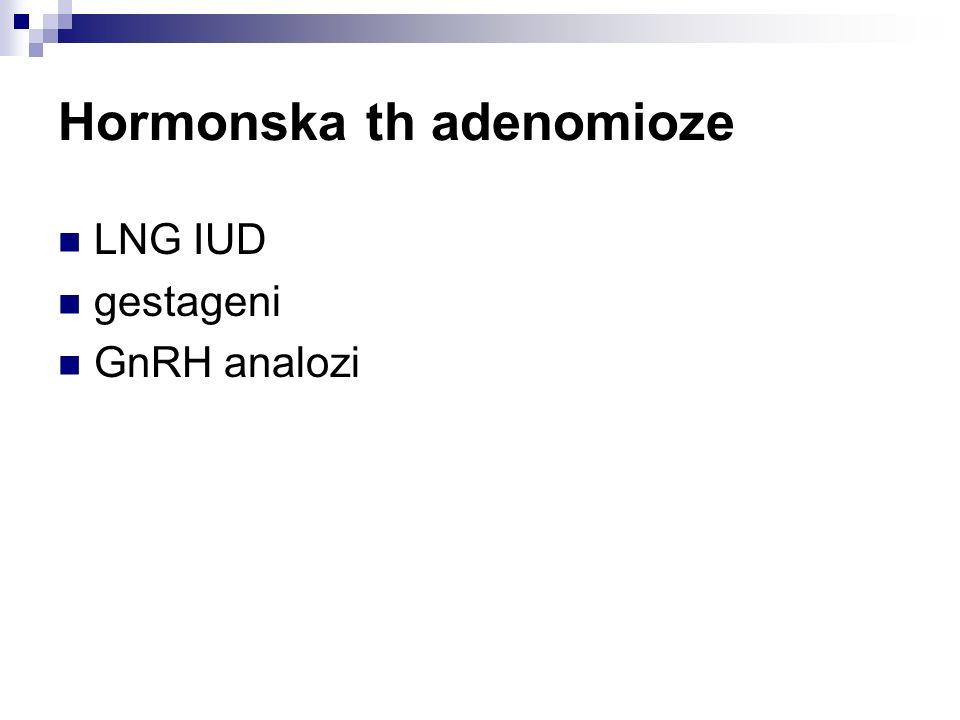 Hormonska th adenomioze