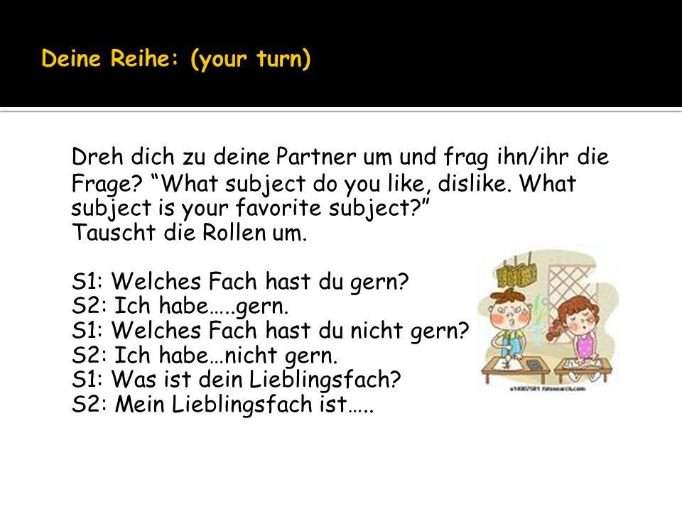 Deine Reihe: (your turn)