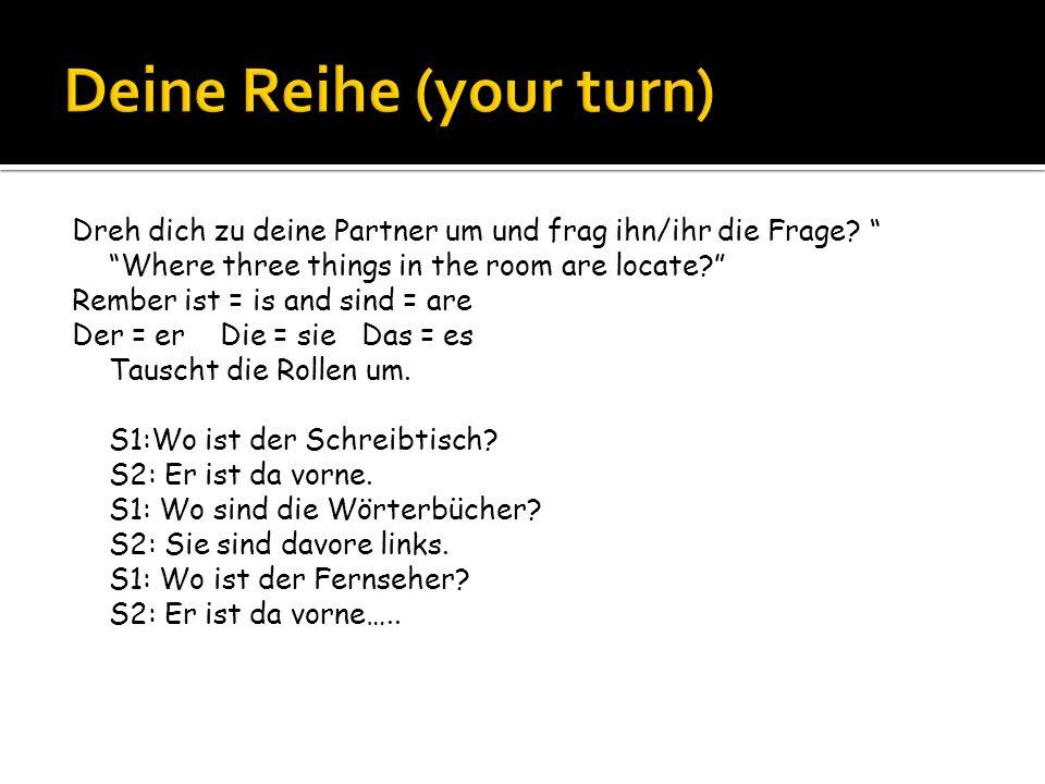 Deine Reihe (your turn)
