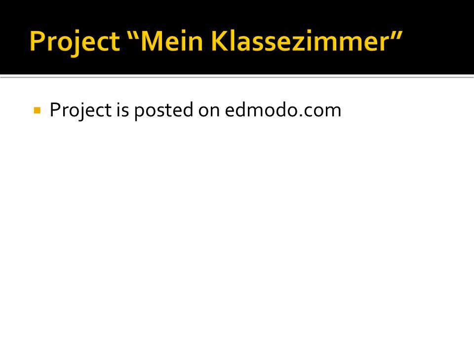 Project Mein Klassezimmer