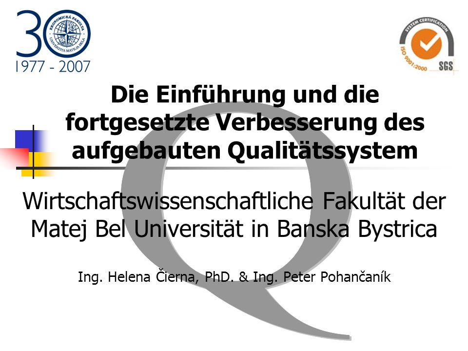 Ing. Helena Čierna, PhD. & Ing. Peter Pohančaník