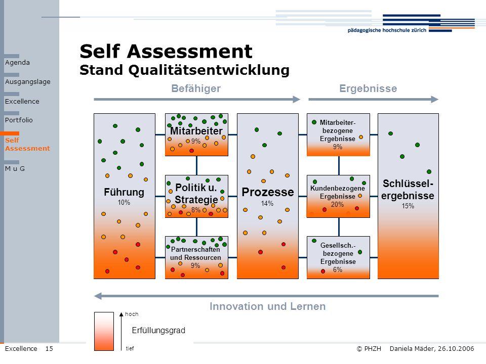 Self Assessment Stand Qualitätsentwicklung
