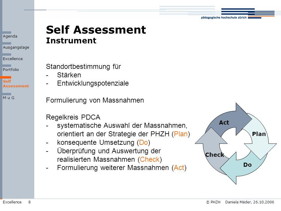 Self Assessment Instrument