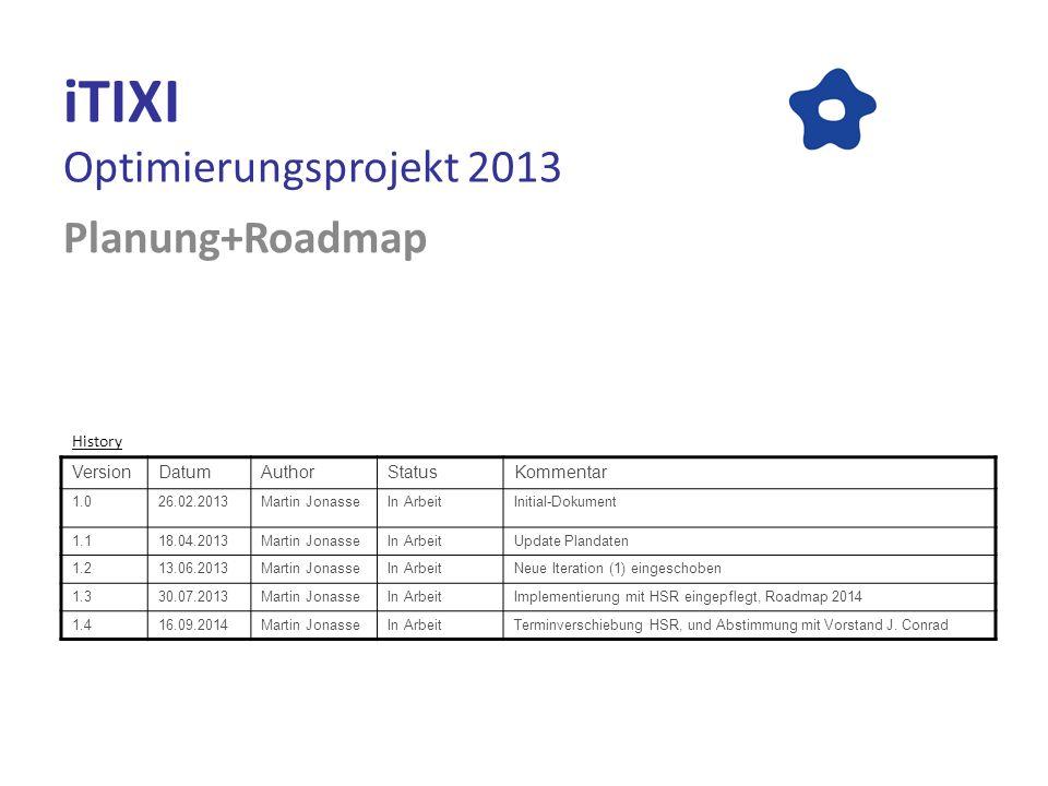 iTIXI Optimierungsprojekt 2013