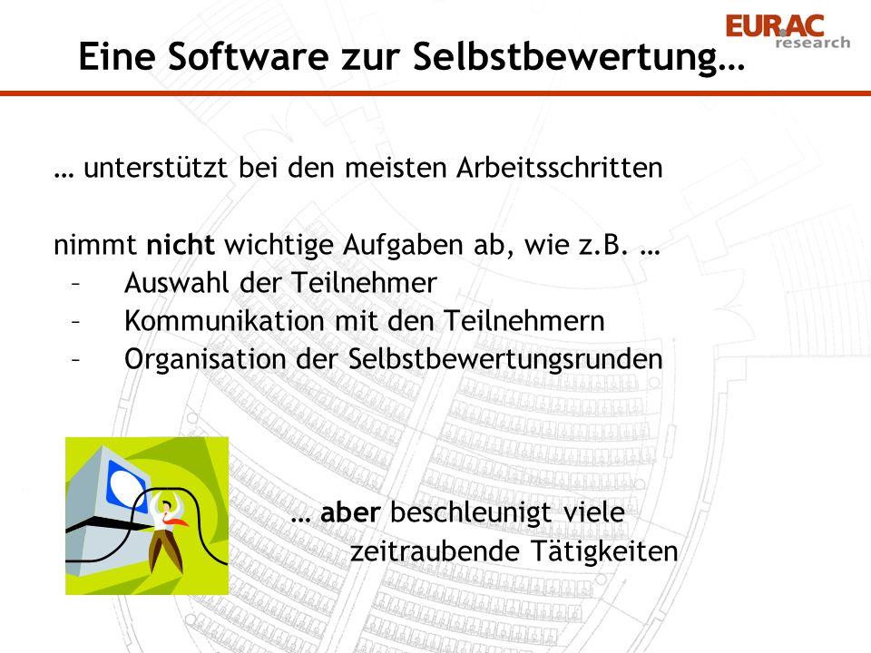 Eine Software zur Selbstbewertung…