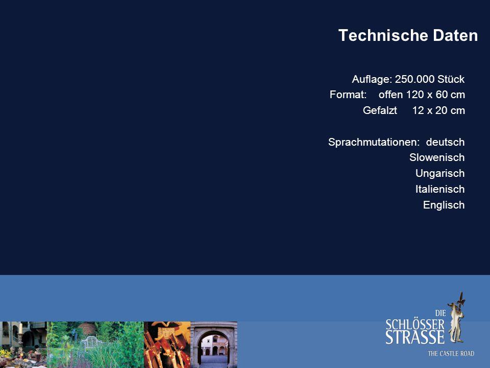 Technische Daten Auflage: 250.000 Stück Format: offen 120 x 60 cm